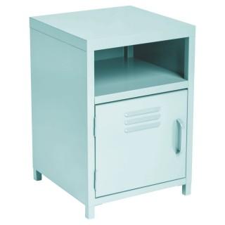 Table de chevet casier Karel - 35 x H. 50,5 cm - Bleu