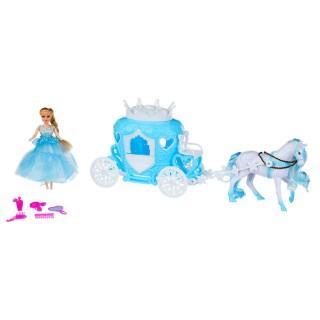 Princesse de glace avec carrosse - Bleu