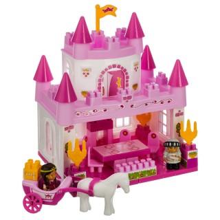 Blocs château de princesse - 59 Pièces - Rose