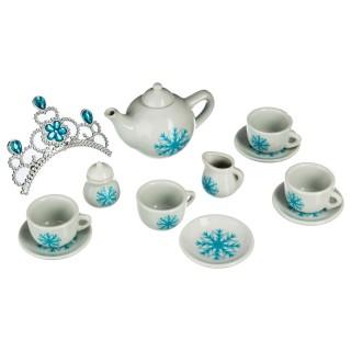 Service à thé enfant en porcelaine - 14 Pièces - Bleu