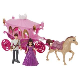 Princesse avec son carrosse - Rose