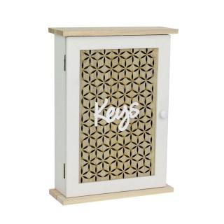 Boîte à clés bois Keys -20 x H. 28 cm - Blanc