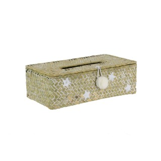 Boîte à mouchoir Bord de mer Etoile - Blanc