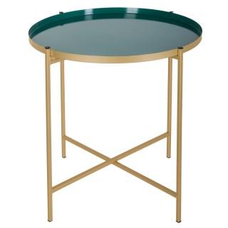 Table à café en métal Sanat - Diam. 48 cm - Vert bleu