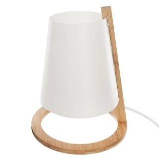 Lampe en bambou Scandi - Diam. 20 cm - Blanc