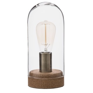 Lampe dôme en liège - Diam. 12 cm - Marron