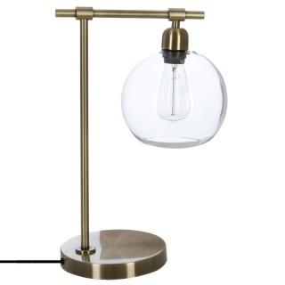 Lampe en métal vintage Jody - H. 47,5 cm - Couleur bronze