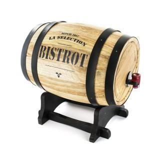 Tonneau distributeur à vin Bistrot - 3 L - Noir