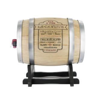 Tonneau distributeur à vin Bistrot - 3 L - Gris