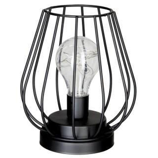 Lampe en métal filaire Box - Diam. 16 cm - Noir