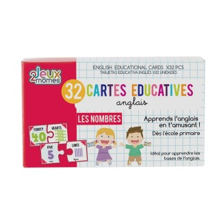 32 Cartes éducatives en anglais - Les nombres