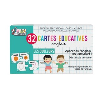 32 Cartes éducatives en anglais - Les couleurs