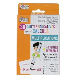 36 Cartes éducatives mathématique - Multiplication