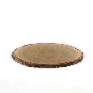 Rondin de bois Au chalet - Diam. 30 cm - Noir