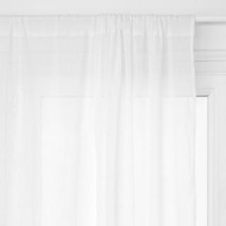 2 Voilages à rayures - 140 x 240 cm - Blanc