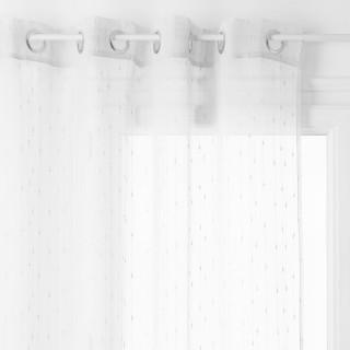 Voilage Anissa - 140 x 240 cm - Blanc