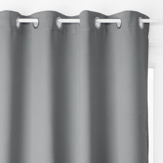 Rideau occultant Louna - 135 x 240 cm - Gris foncé
