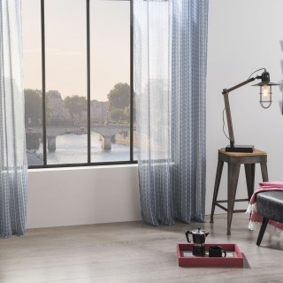 Voilage Ana Story - 140 x 240 cm - Gris