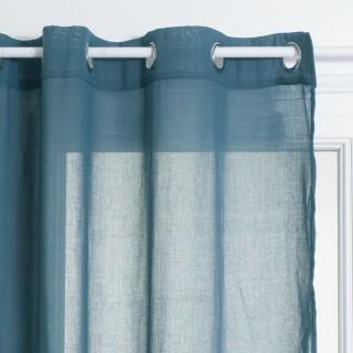 Voilage Ana - 140 x 240 cm - Bleu orage