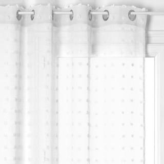 Voilage Lily - 140 x 240 cm - Blanc
