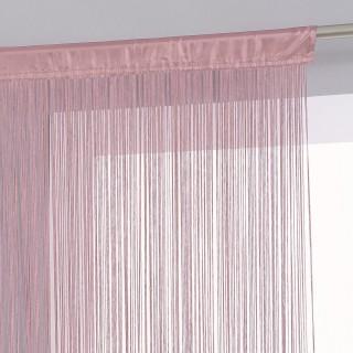 Rideau fils - 120 x 240 cm - Rose pale