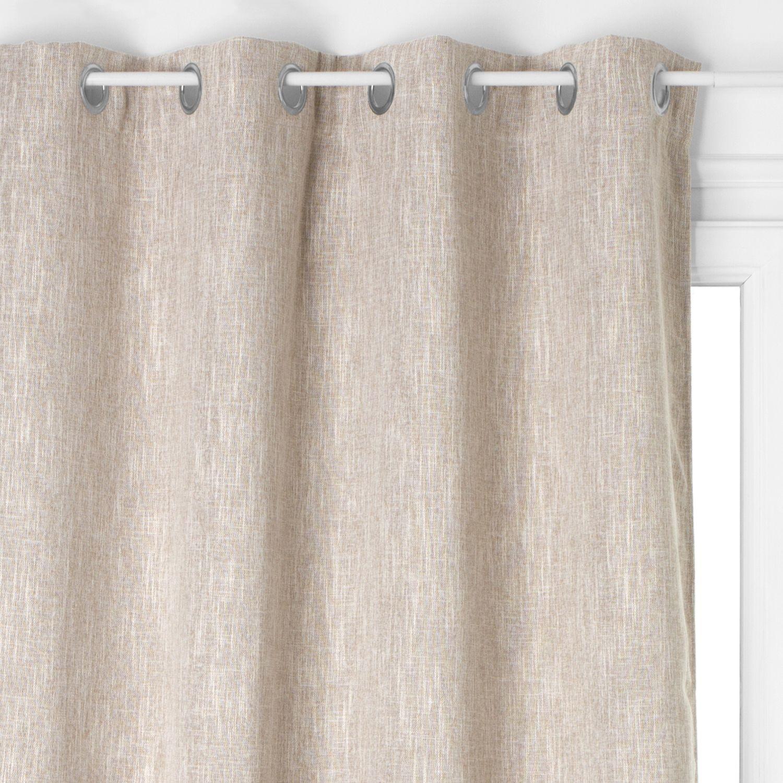 Couleur Lin Et Gris rideau occultant lea - 140 x 260 cm - couleur lin - toilinux