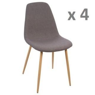 Lot de 4 - Chaise Roka - Gris