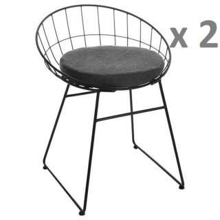 Lot de 2 - Chaise design Modern - Noir