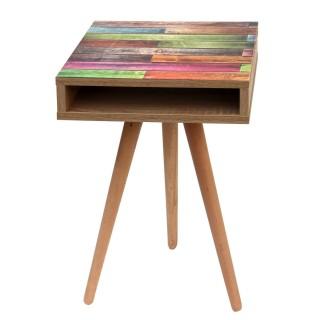 Table à café Colors - L. 40 x H. 64 cm - Marron