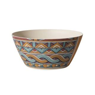 Saladier en fibre de bambou Wax - Diam. 25 cm - Multicolore