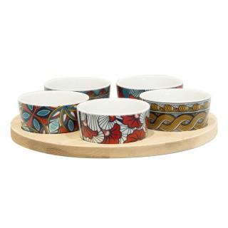 5 Coupelles avec plateau Wax - Multicolore