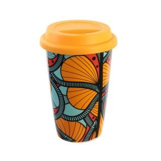 Mug de voyage Wax - Double paroi - Orange