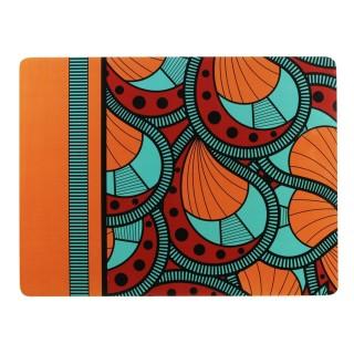 Set de table ethnique Wax - L. 39,5 x l. 29,5 cm - Orange