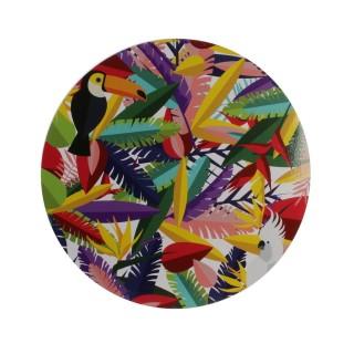 Set de table tropical Exotic - Diam. 35 cm - Multicolore