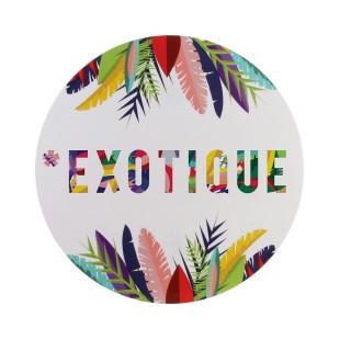 Set de table tropical Exotic - Diam. 35 cm - Blanc