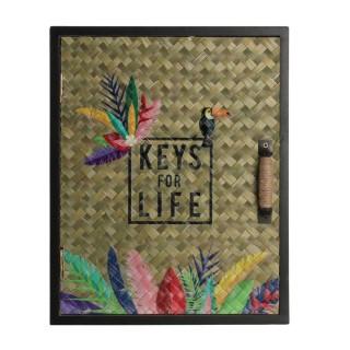 Boîte à clés Exotic - L. 20 x H. 25 cm - Beige