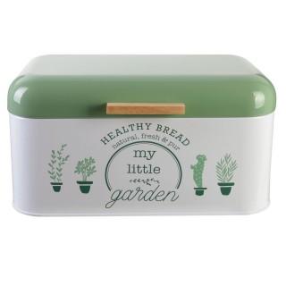 Boîte à pain Little Market - Métal - Vert clair
