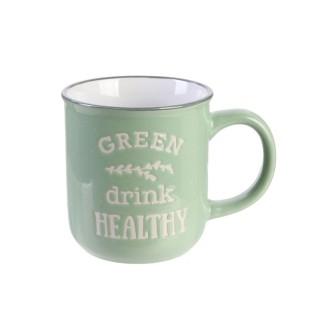Mug vintage Little Market - Vert clair