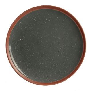 Assiette plate Little Market - Diam. 20,5 cm - Gris