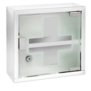 Armoire à pharmacie en Inox - L. 25 x l. 25 cm - Blanc