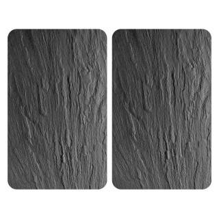 2 Couvres plaque XL universelle Ardoise - L. 52 x l. 40 cm - Gris
