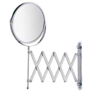 Miroir mural grossissant de salle de bain Exclusif - Diam. 16 cm - Argent