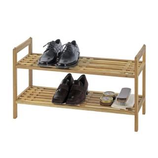 Etagère à chaussures Norway - L. 69 x H. 40,5 cm - Marron noix