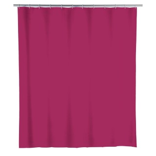 Rideau de douche Framboise - PEVA - L. 180 x l. 200 cm - Rose