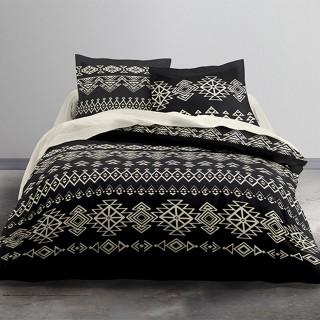 Parure de lit Taopai - 100% coton 57 fils - 240 x 220 cm - Noir