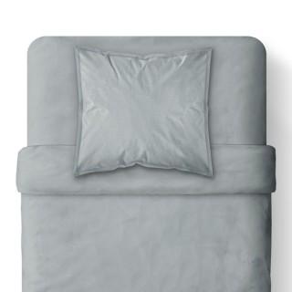 Housse de couette Zinc - 100% coton 57 fils - 140 x 200 cm - Gris