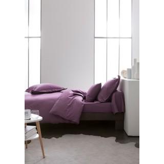 Housse de couette Figue - 100% coton 57 fils - 140 x 200 cm - Violet