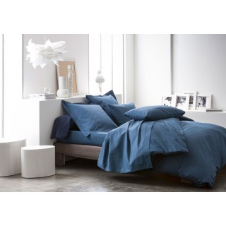 Housse de couette Ciel d'orage - 100% coton 57 fils - 220 x 240 cm - Bleu foncé
