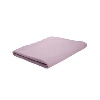 Drap plat Poudre de lila - 100% coton 57 fils - 180 x 290 cm - Rose