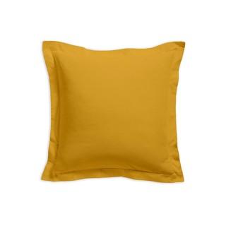 Taie d'oreiller - 100% coton 57 fils - 75 x 75 cm - Jaune safran